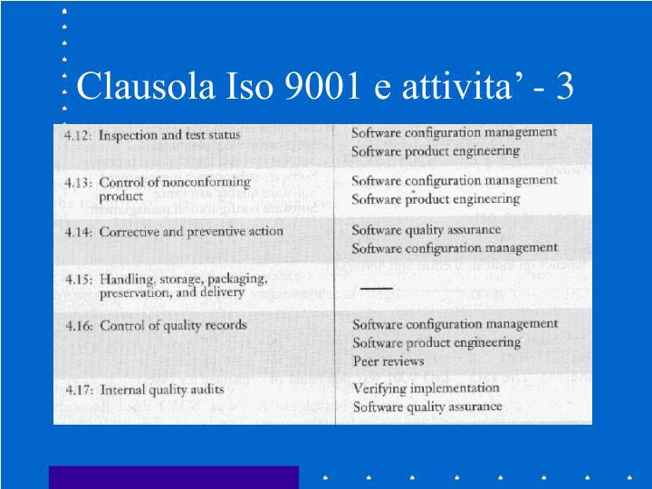 Clausola Iso 9001 e attivita' - 3
