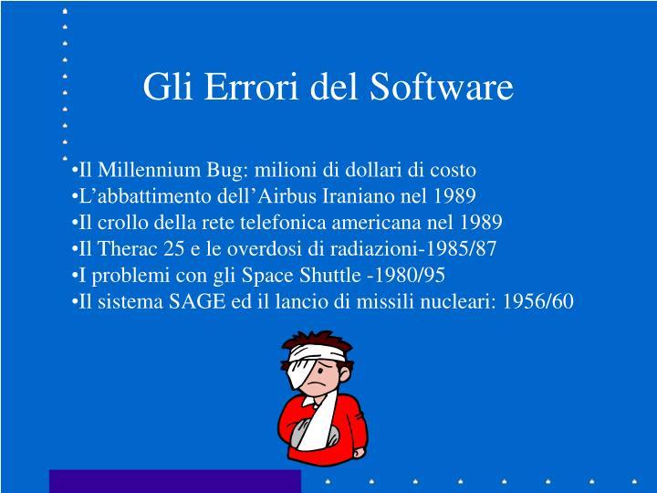 Gli Errori del Software