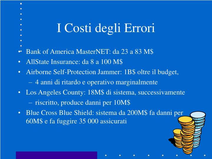 I Costi degli Errori