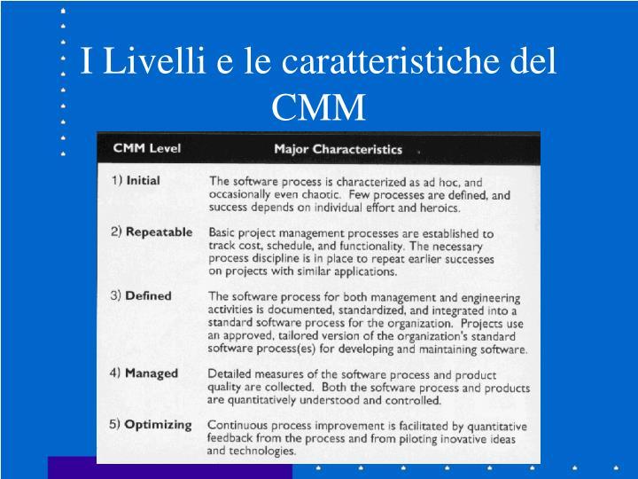 I Livelli e le caratteristiche del CMM