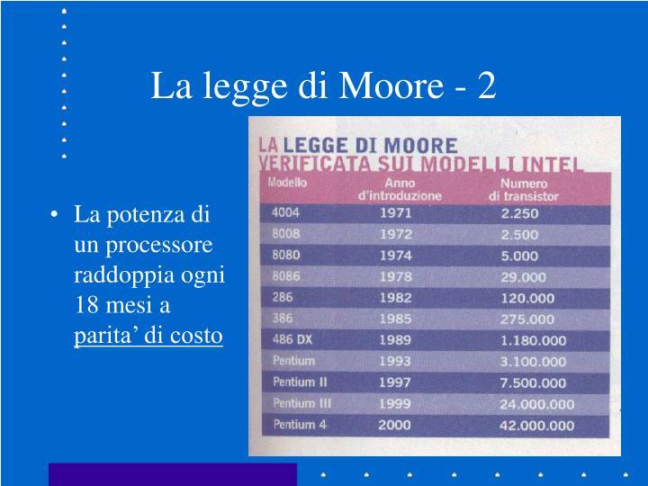 La legge di Moore - 2