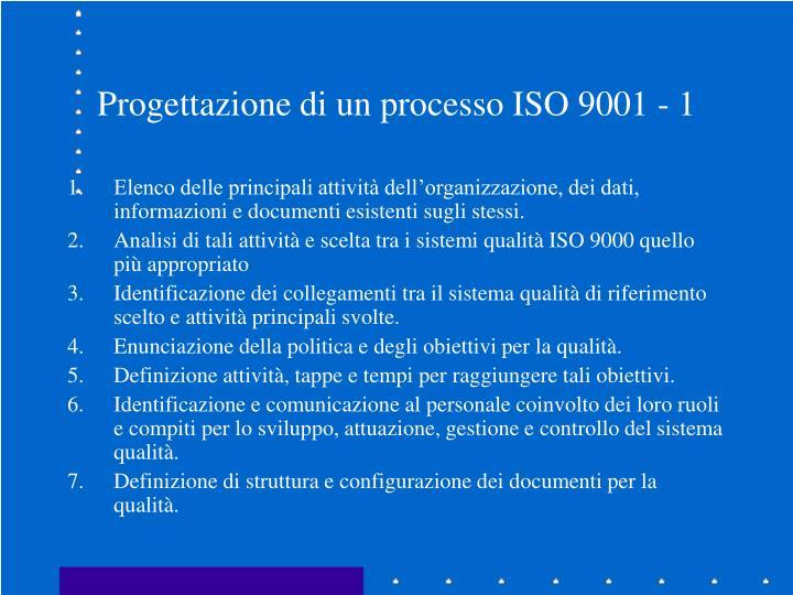 Progettazione di un processo ISO 9001 - 1