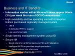 business and it benefits