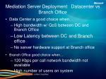 mediation server deployment datacenter vs branch office