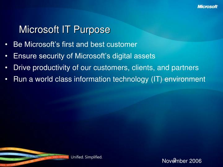 Microsoft it purpose