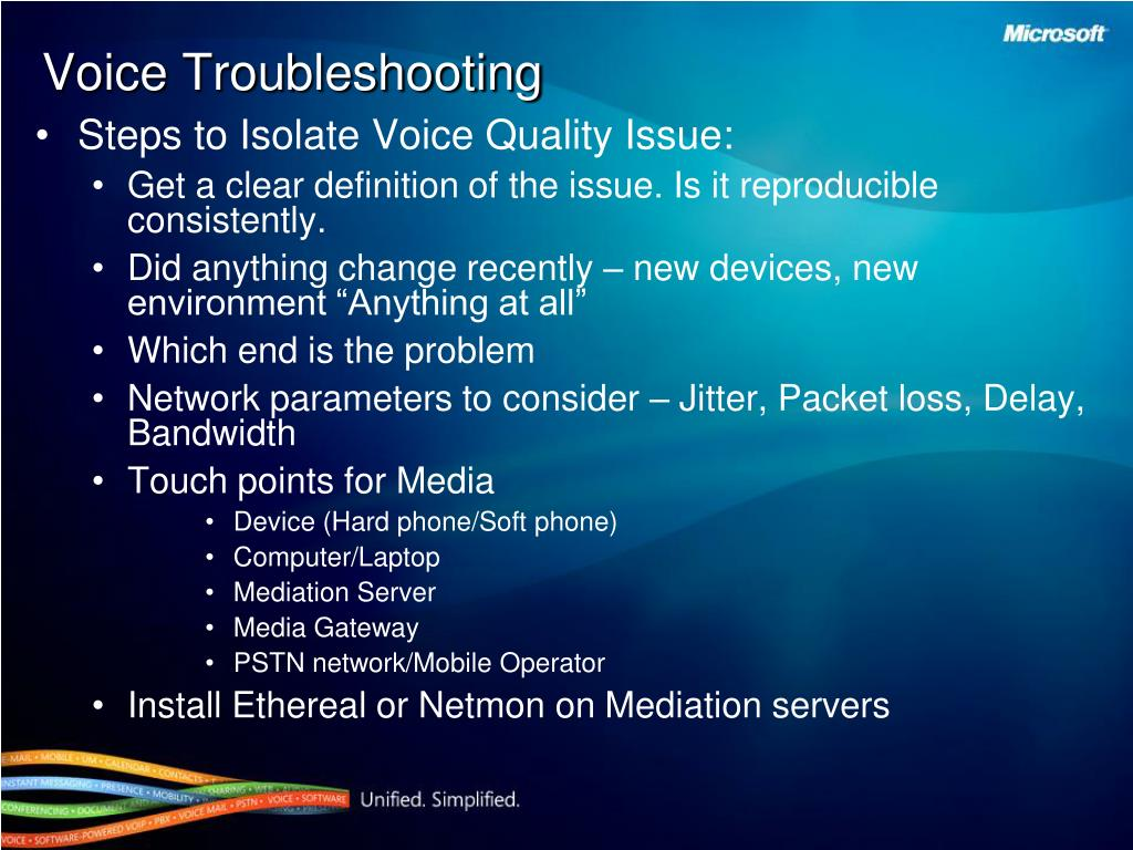 Steps to Isolate Voice Quality Issue:
