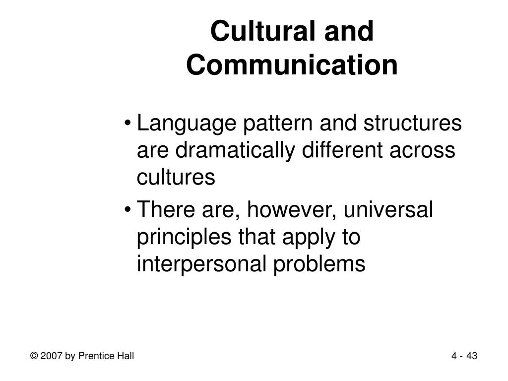 Cultural and Communication