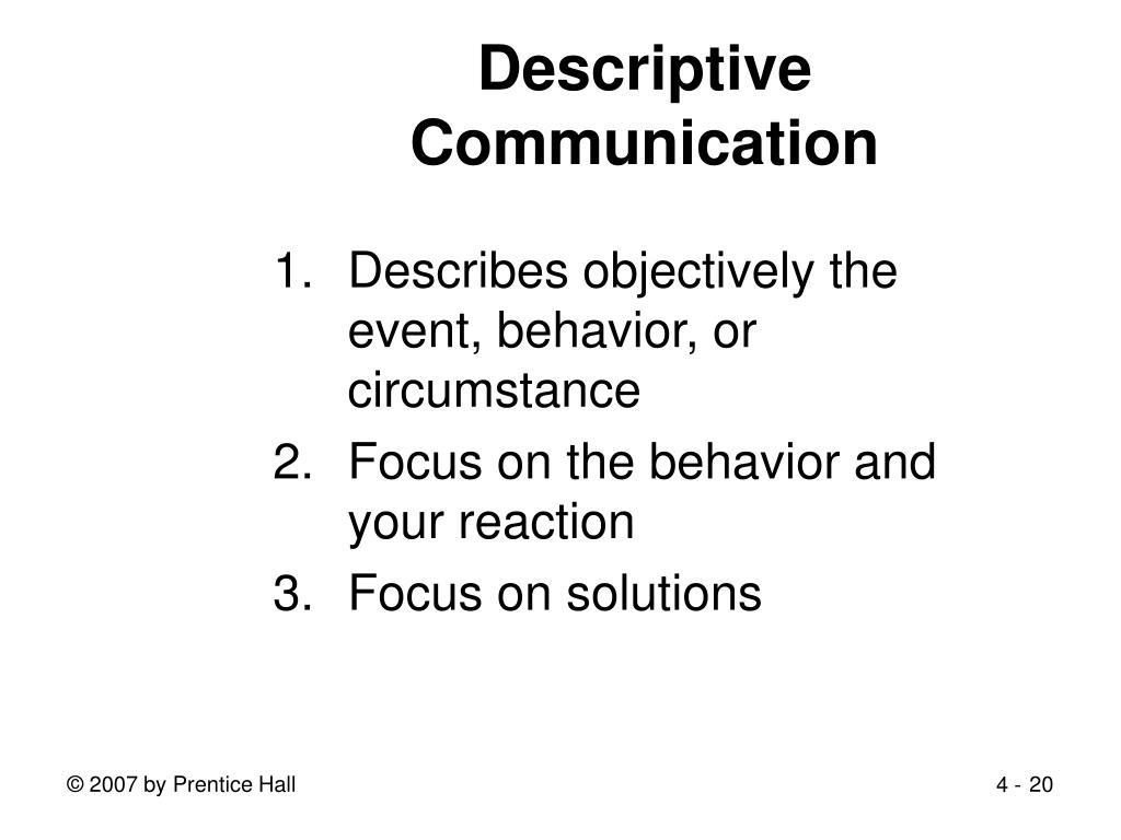 Descriptive Communication
