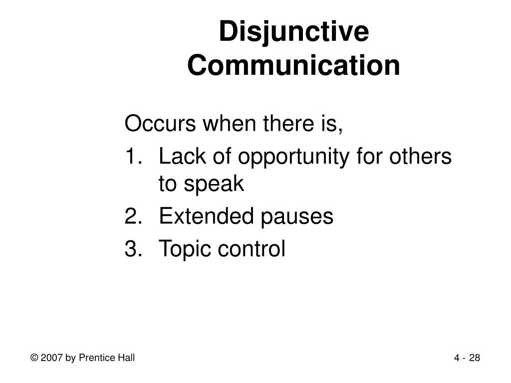 Disjunctive Communication