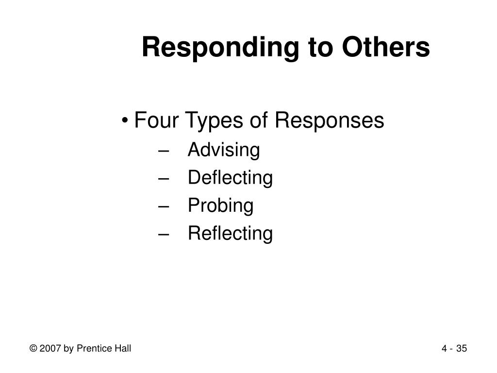 Responding to Others