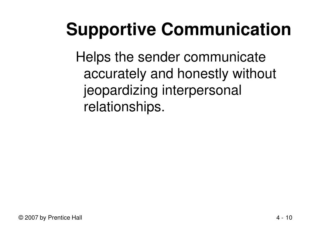 Supportive Communication