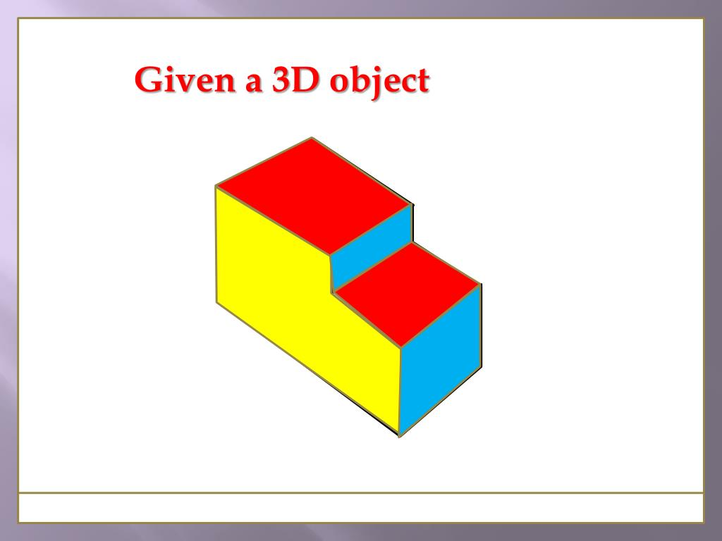 Given a 3D object