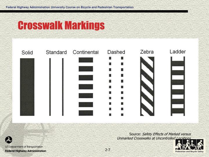 Crosswalk Markings