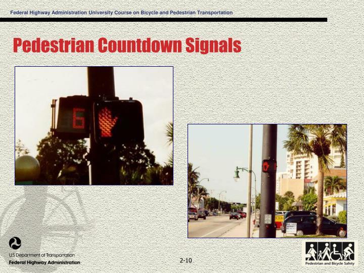 Pedestrian Countdown Signals