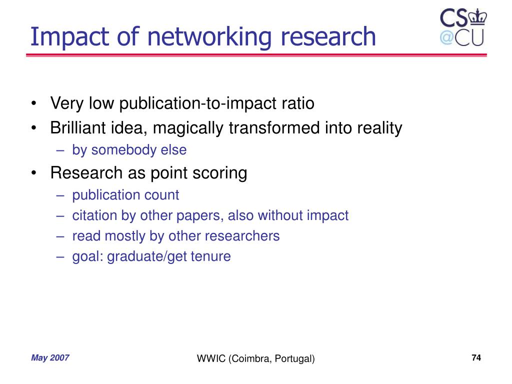 Impact of networking research