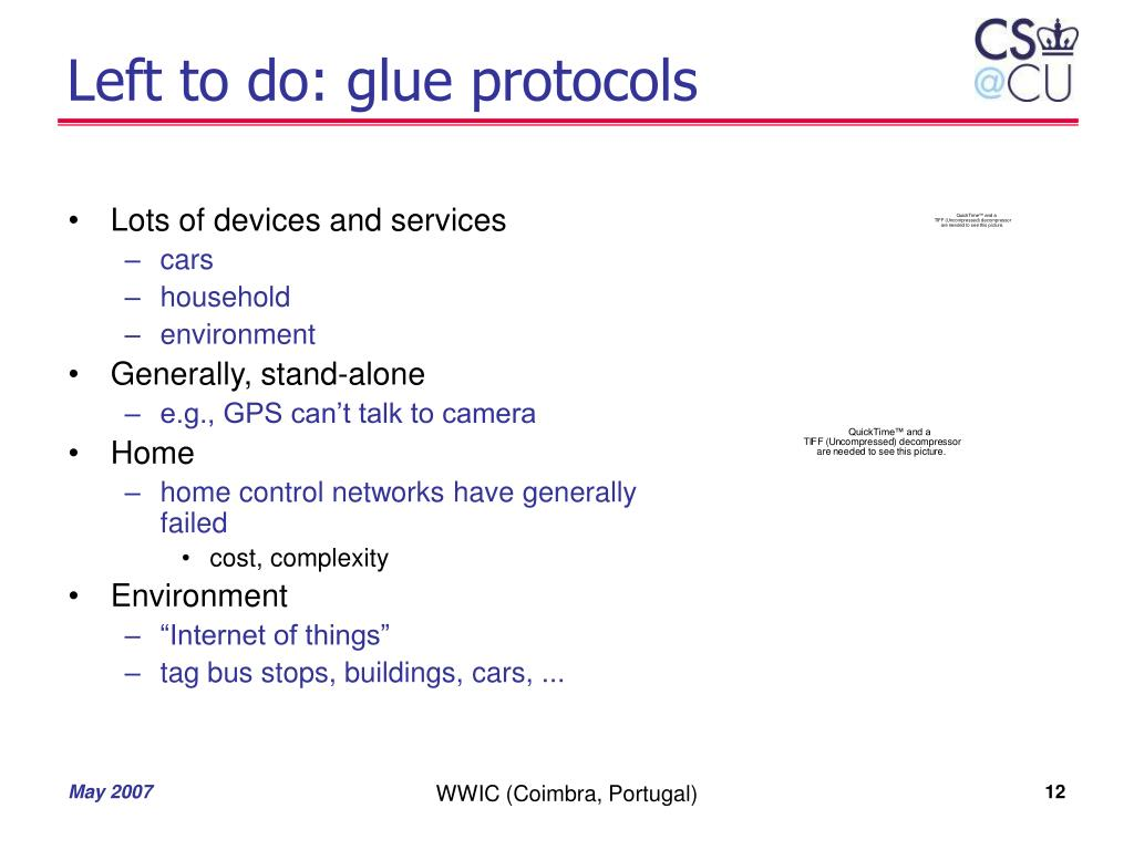 Left to do: glue protocols