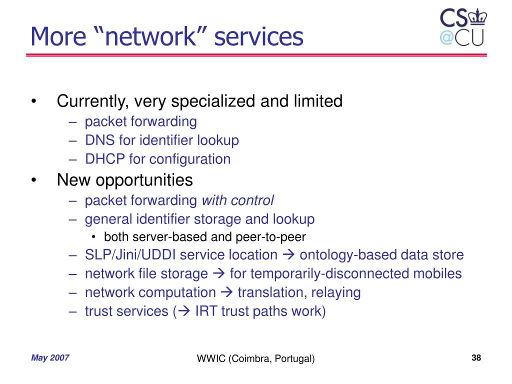 "More ""network"" services"