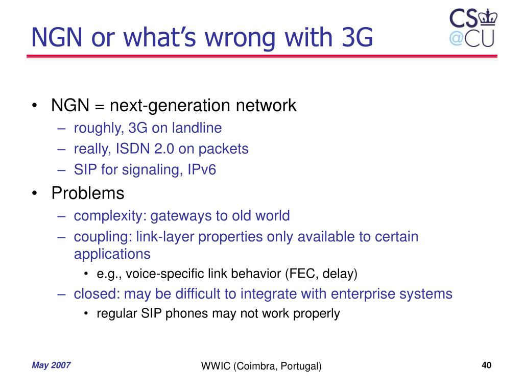 NGN or what's wrong with 3G