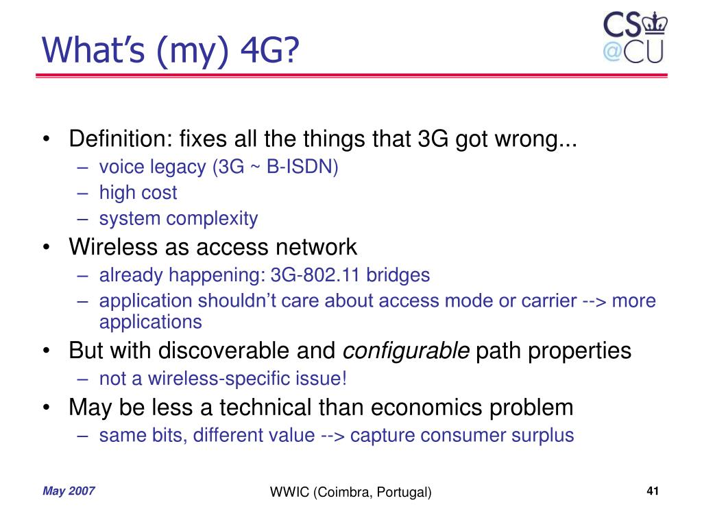 What's (my) 4G?