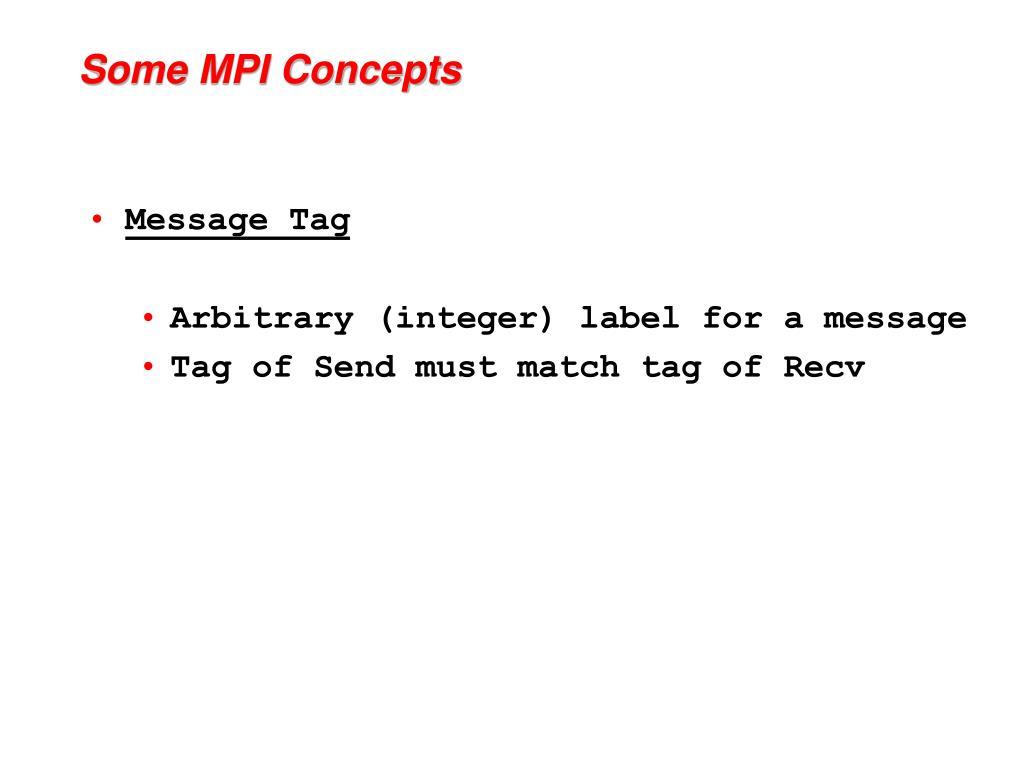 Some MPI Concepts