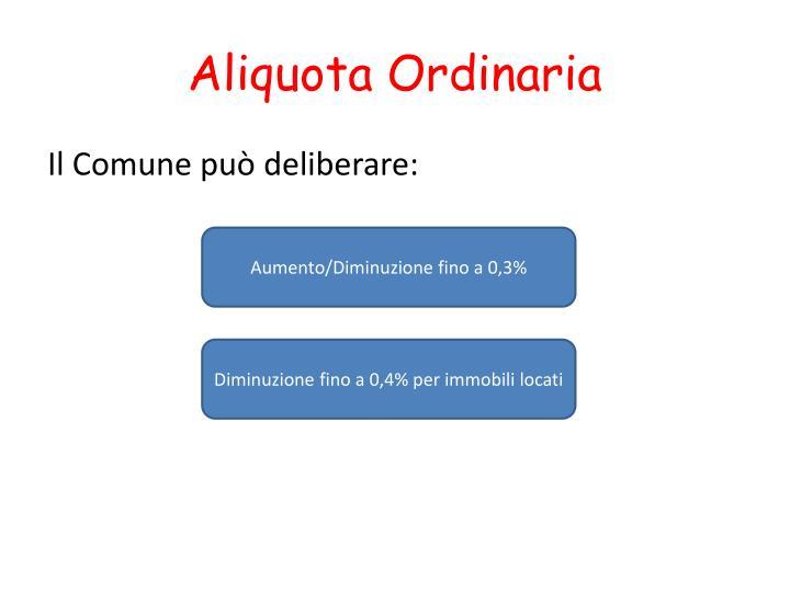 Aliquota Ordinaria