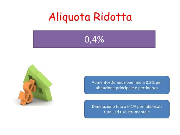 Aliquota Ridotta