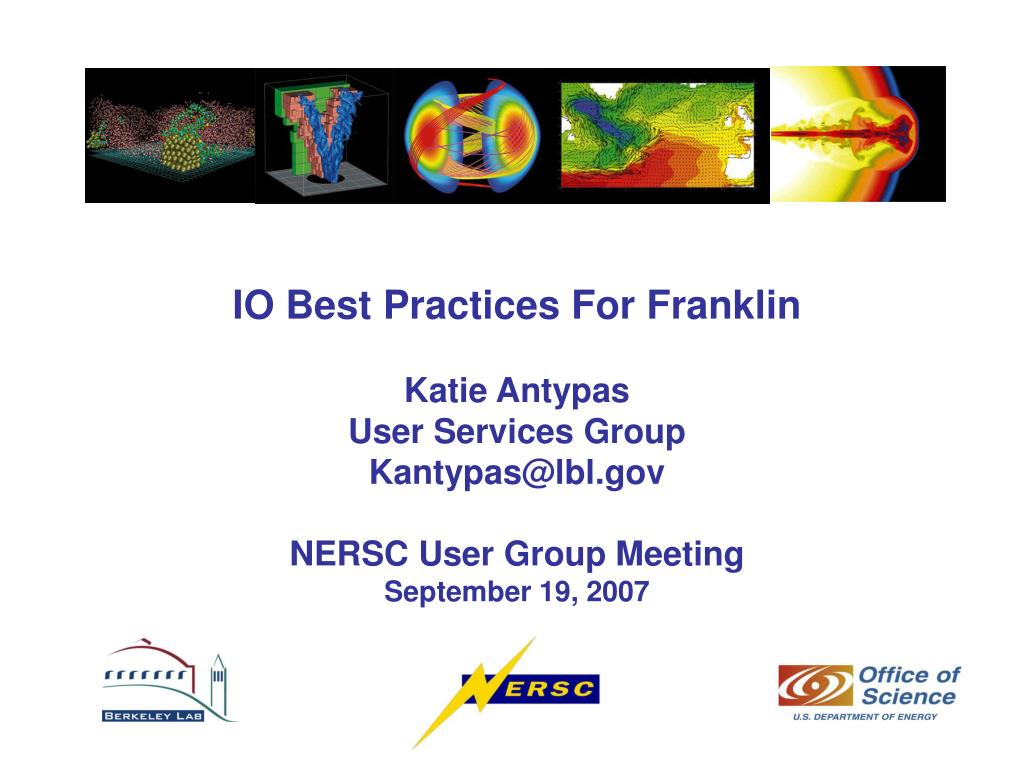 IO Best Practices For Franklin