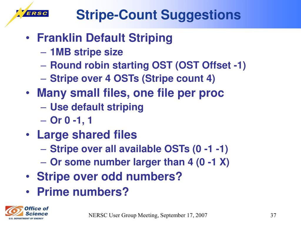 Stripe-Count Suggestions