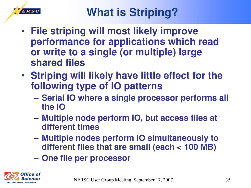 What is Striping?