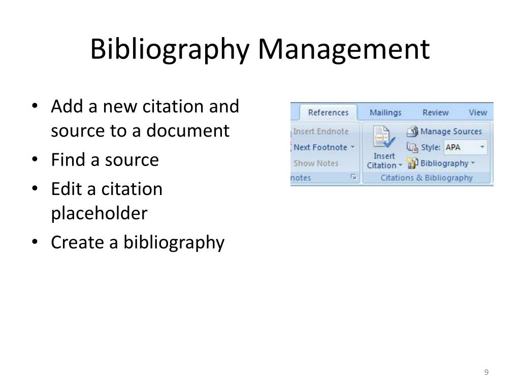 Bibliography Management