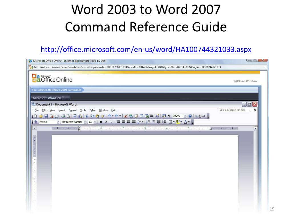 Word 2003 to Word 2007