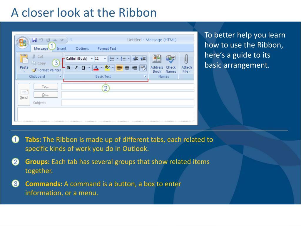 A closer look at the Ribbon
