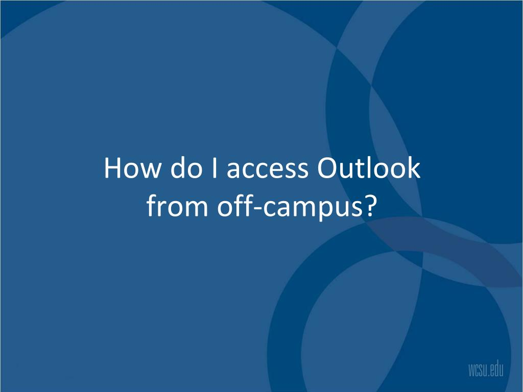 How do I access Outlook