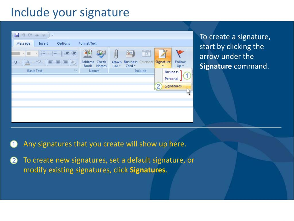 Include your signature