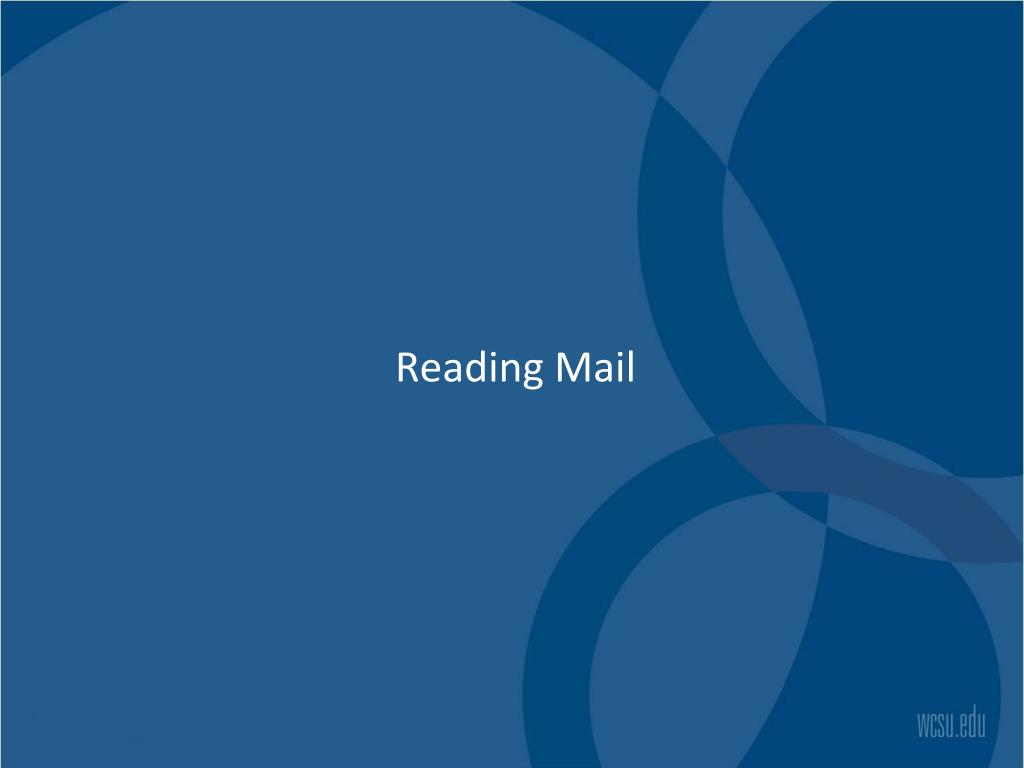 Reading Mail