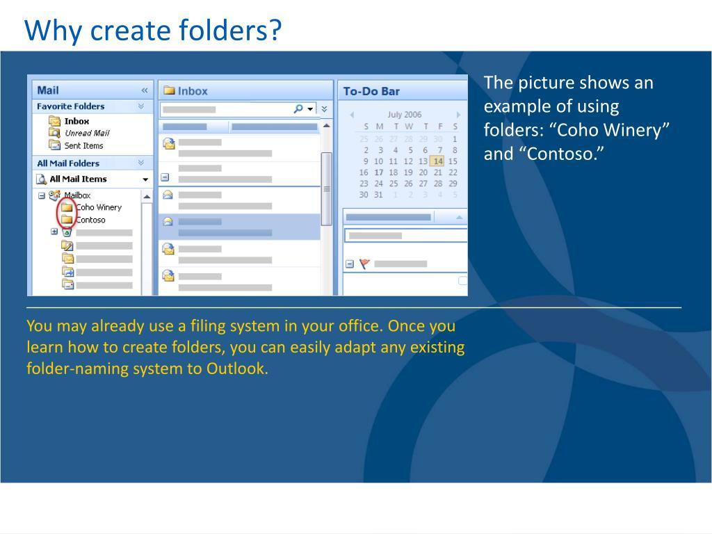 Why create folders?