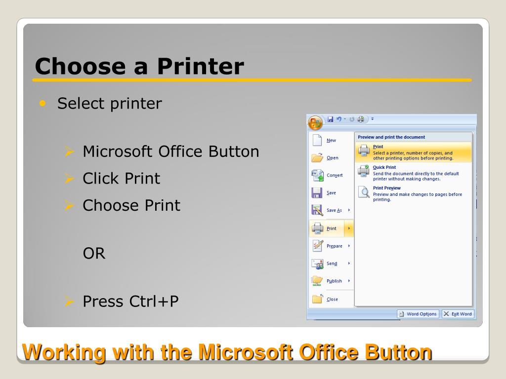 Choose a Printer