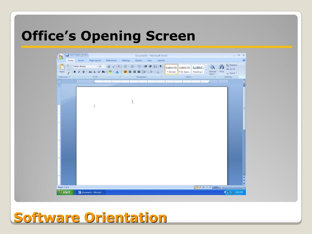Office's Opening Screen