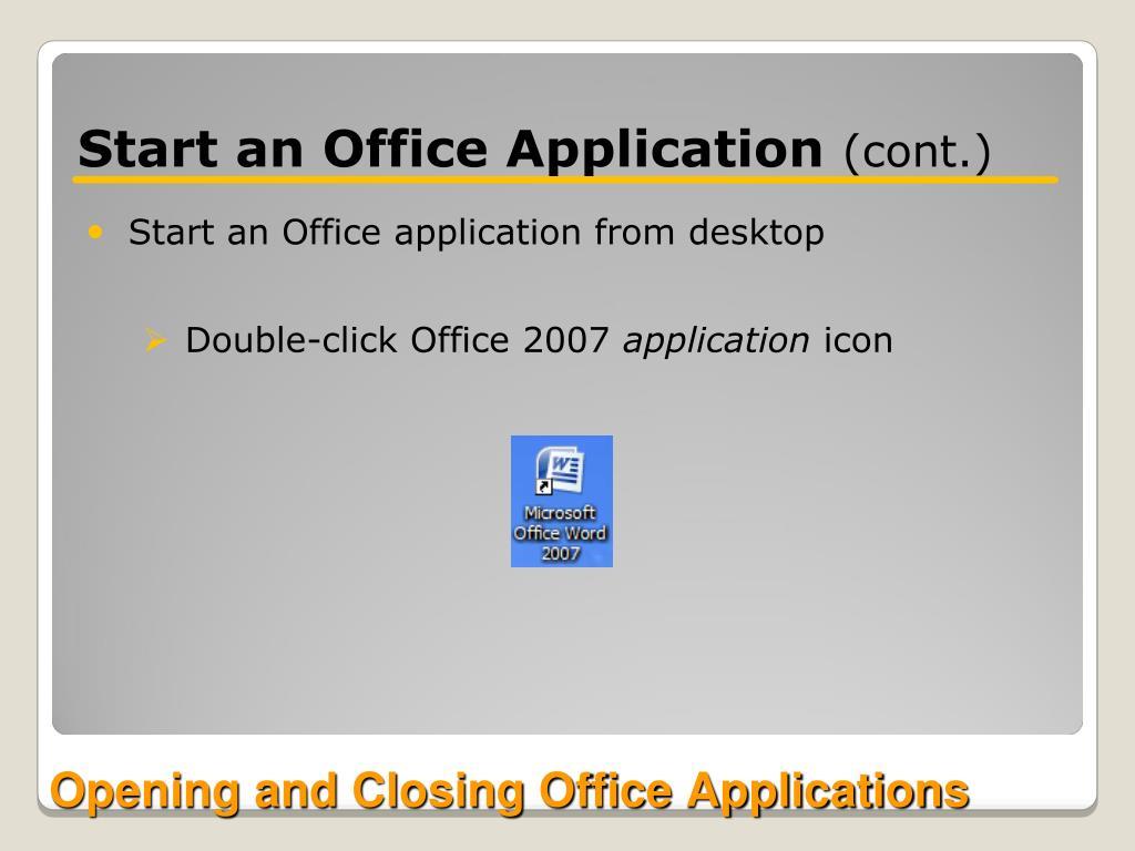 Start an Office Application