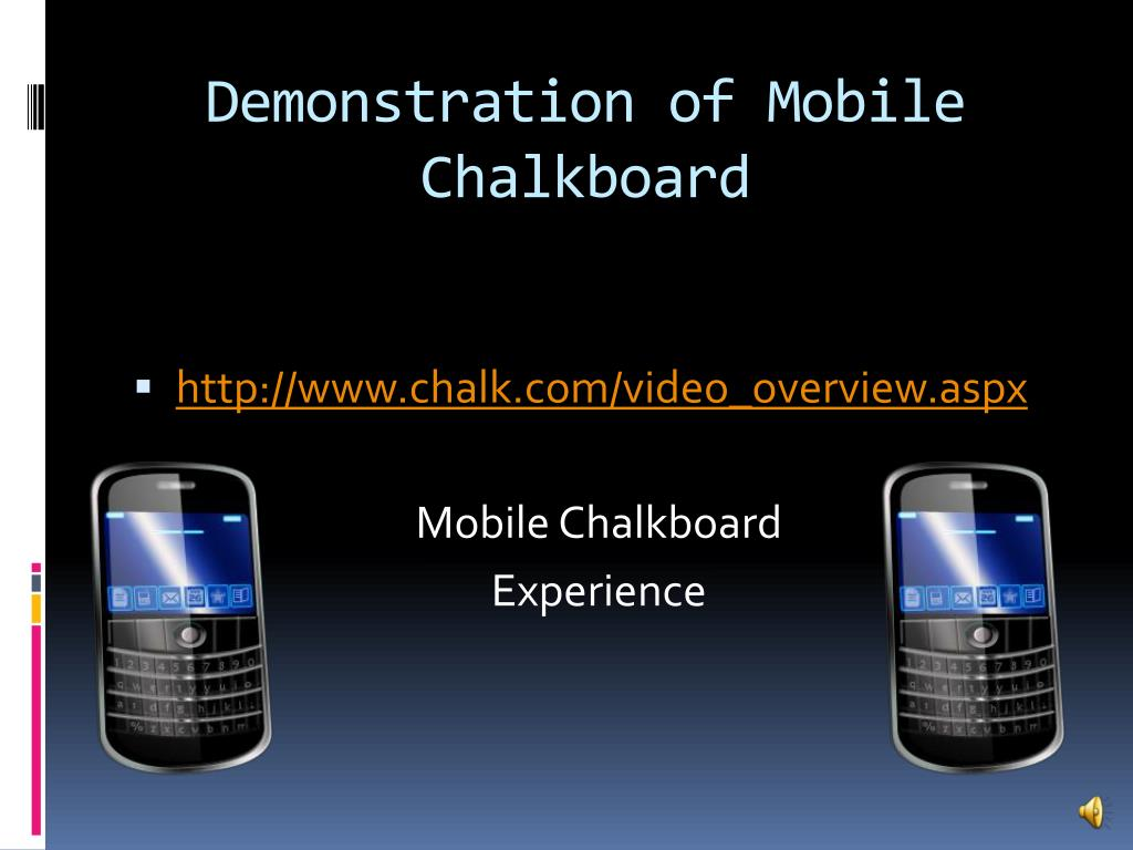 Demonstration of Mobile Chalkboard