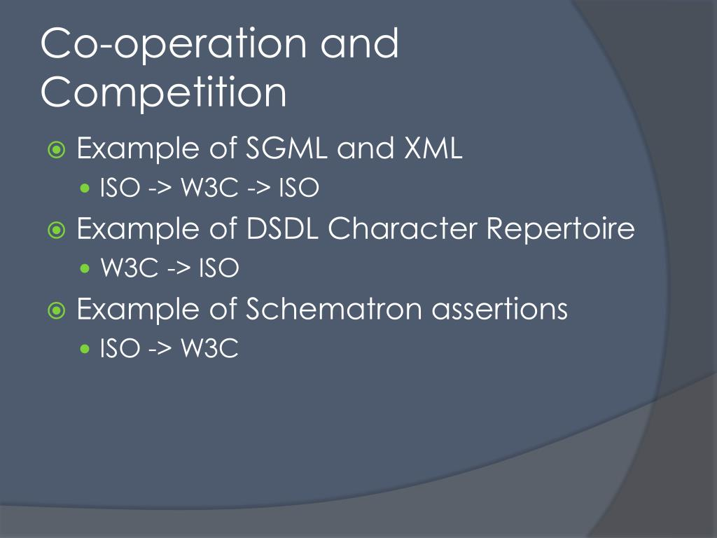 Co-operation and Competition