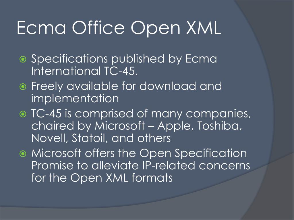 Ecma Office Open XML