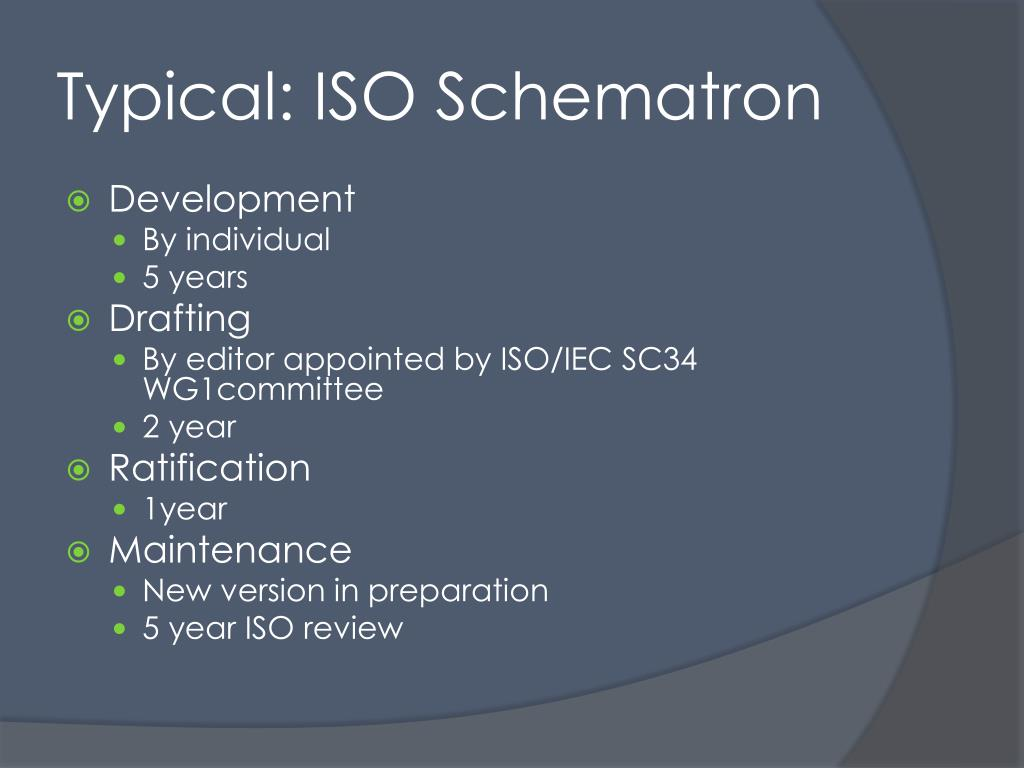 Typical: ISO Schematron