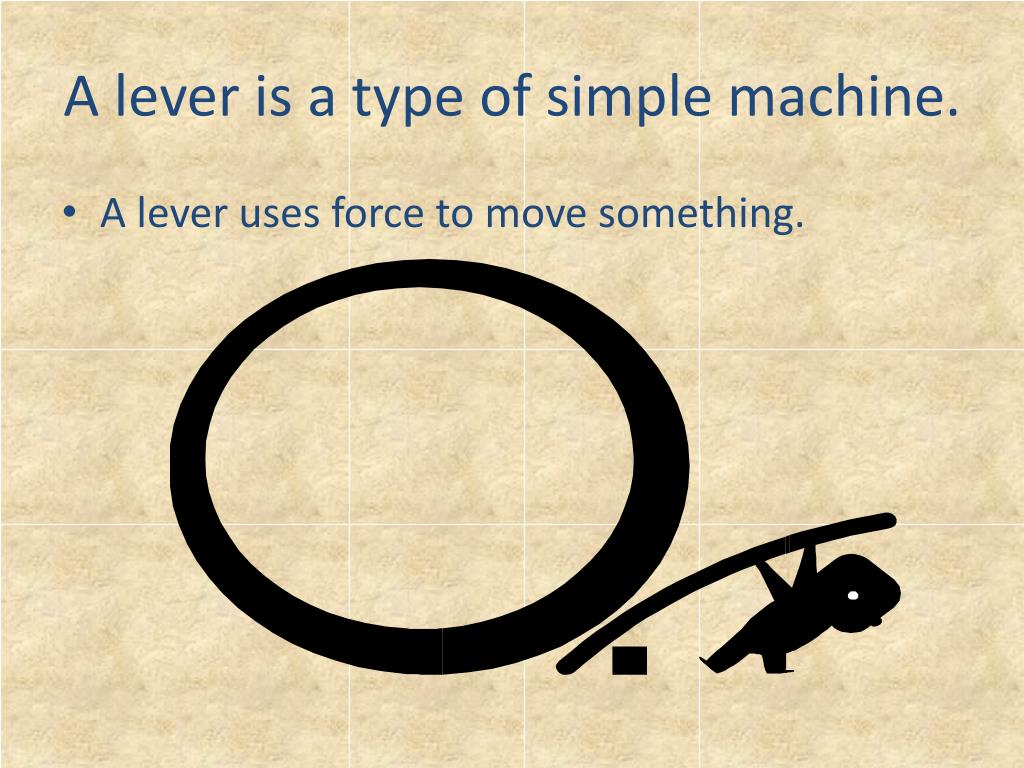 A lever is a type of simple machine.
