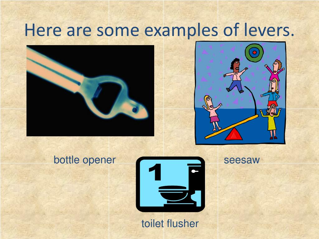 Here are some examples of levers.