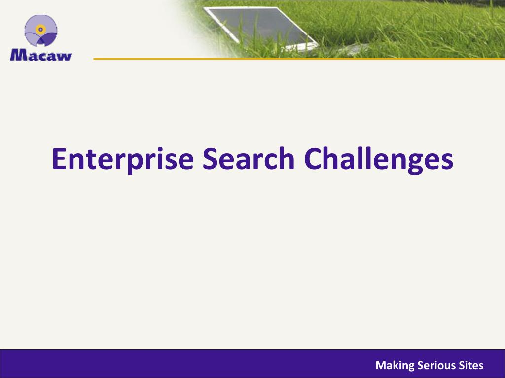 Enterprise Search Challenges