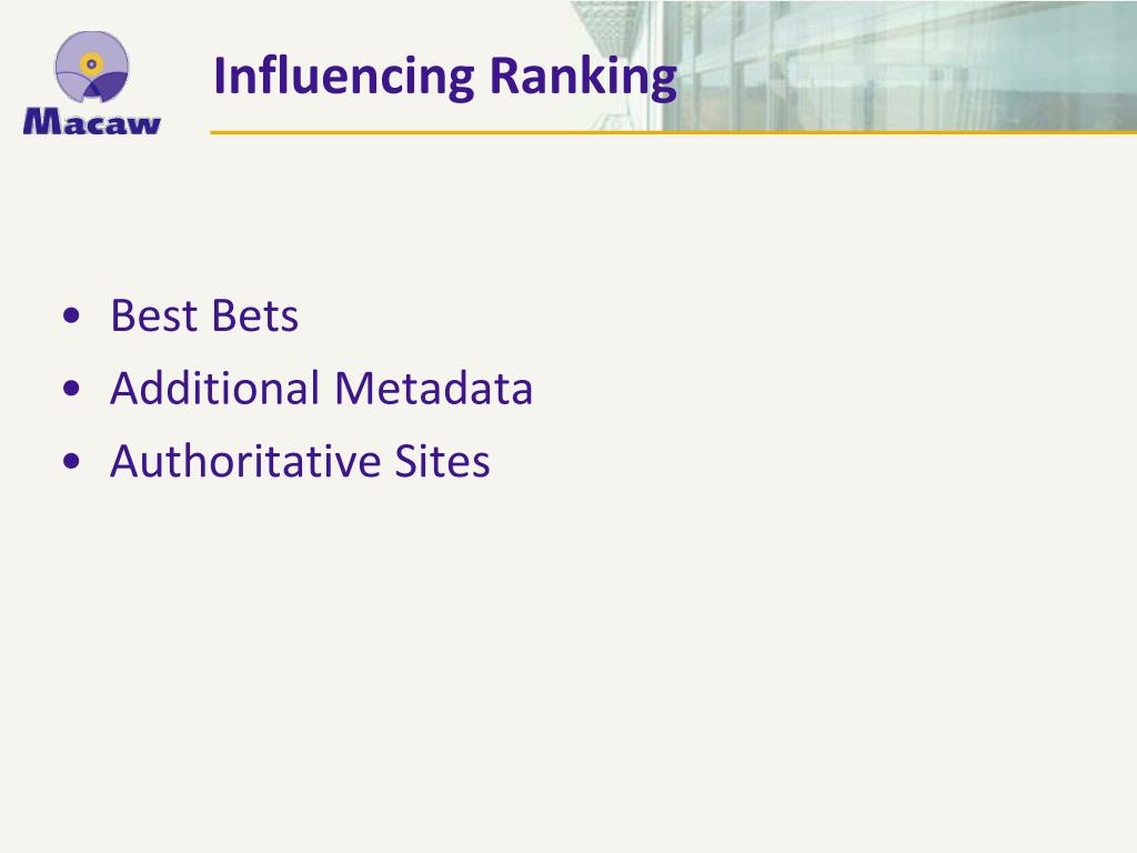 Influencing Ranking