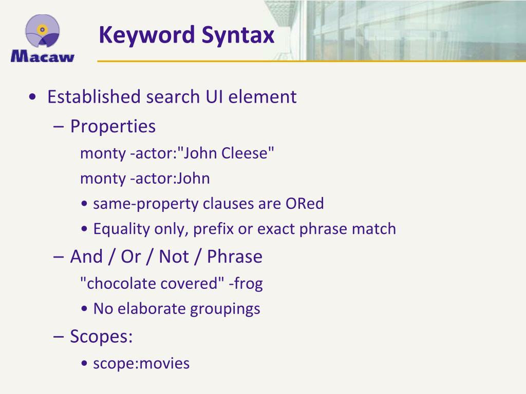 Established search UI element