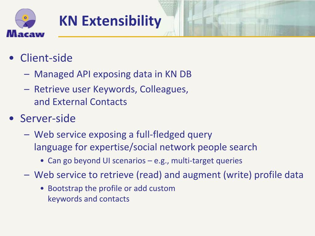 KN Extensibility