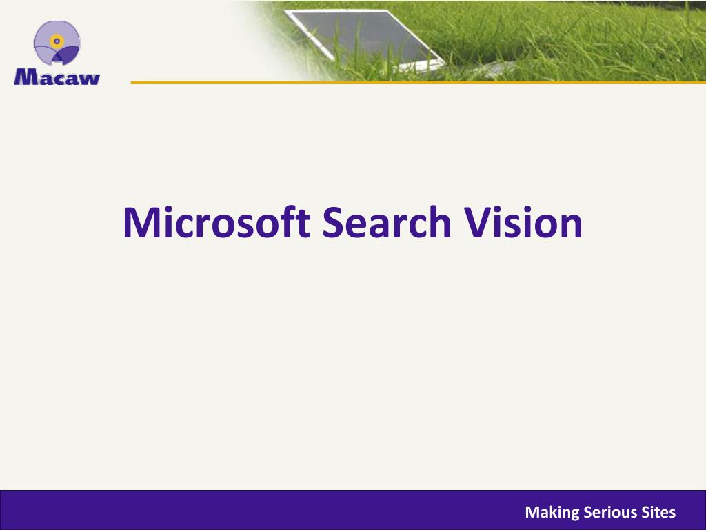 Microsoft Search Vision